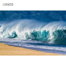 Laeacco Tropical Big Roar Sea Waves Surfing Holiday Party Scenic Photography Backdrops Photo Backgrounds Photocall Studio