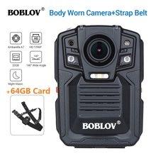 BOBLOV HD66-02 64GB kamera noszona na ciele rejestrator HD1296P kamera Politie de corpo widzenie nocne z wykorzystaniem podczerwieni zużyty korpus aparatu Policia Camara