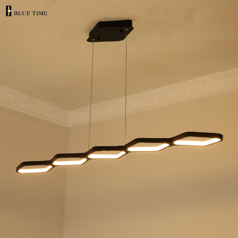 Modern Led Pendant Lights For Living Room Dining Room Kitchen Luminaire LED Pendant Lamp Indoor Lighting Fixtures Black/White modern guard dining room pendant lights white black golden silver lamp