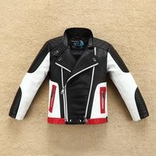 Beau Design Cool garçons en cuir veste de moteur pour lautomne printemps enfants manteau chaud Bomber bébé garçon vêtements dhiver