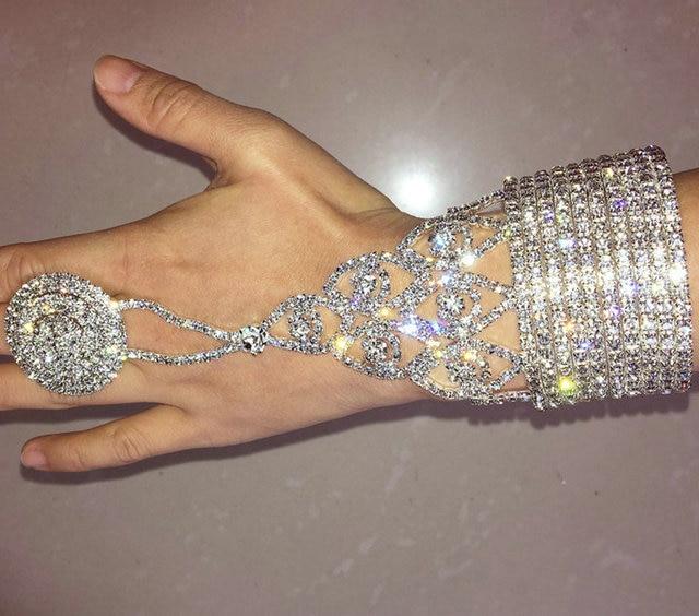 Belly Dance Bracelet Elastic Bracelet Gold And Silver Many Styles