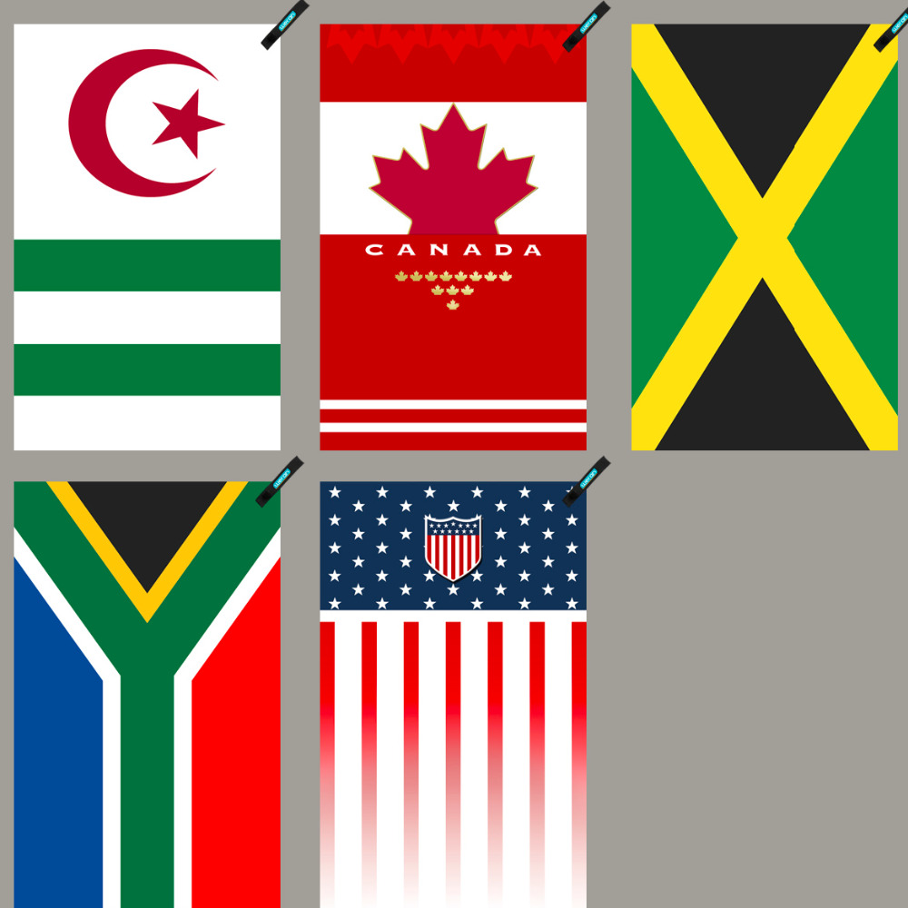 algeria america canada jamaica south africa National flag towel Quick Drying Washcloth OutDoor Towel travelling swim towel jamaica jamaica no problem