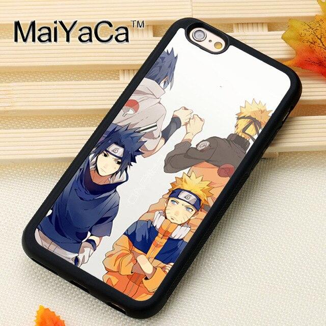 MaiYaCa Naruto Uzumaki and Sasuke Uchiha Printed Soft Rubber Skin Phone Cases OEM For iPhone 6 6S Plus 7 Plus 5 5S SE Back Cover