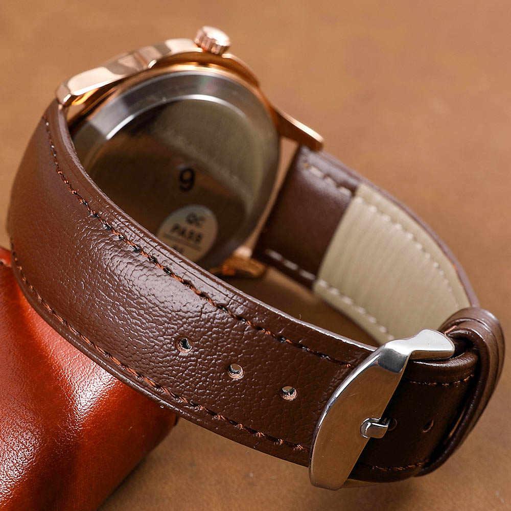 20 ชิ้น/ถุงของแท้หนังสายนาฬิกา 12mm/14mm/16mm/18mm/20 มม./22 มม./24 มม.นาฬิกาผู้หญิงผู้ชายสีน้ำตาลสีดำเข็มขัด