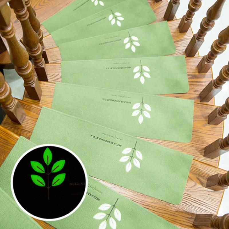 Luminous Staircase Pad Self-Adhesive Floor Sticker Safety Children Carpet Footprint Pattern Non-slip Stair Mat