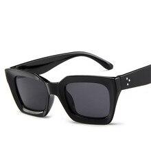 ZXRCYYL cute sexy retro cateye sunglasses women small black white triangle vinta