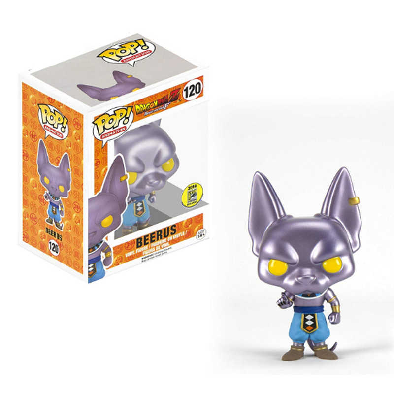 Funko POP BEERUS 120 # Action Figure Collectible Modelo Toy com Caixa