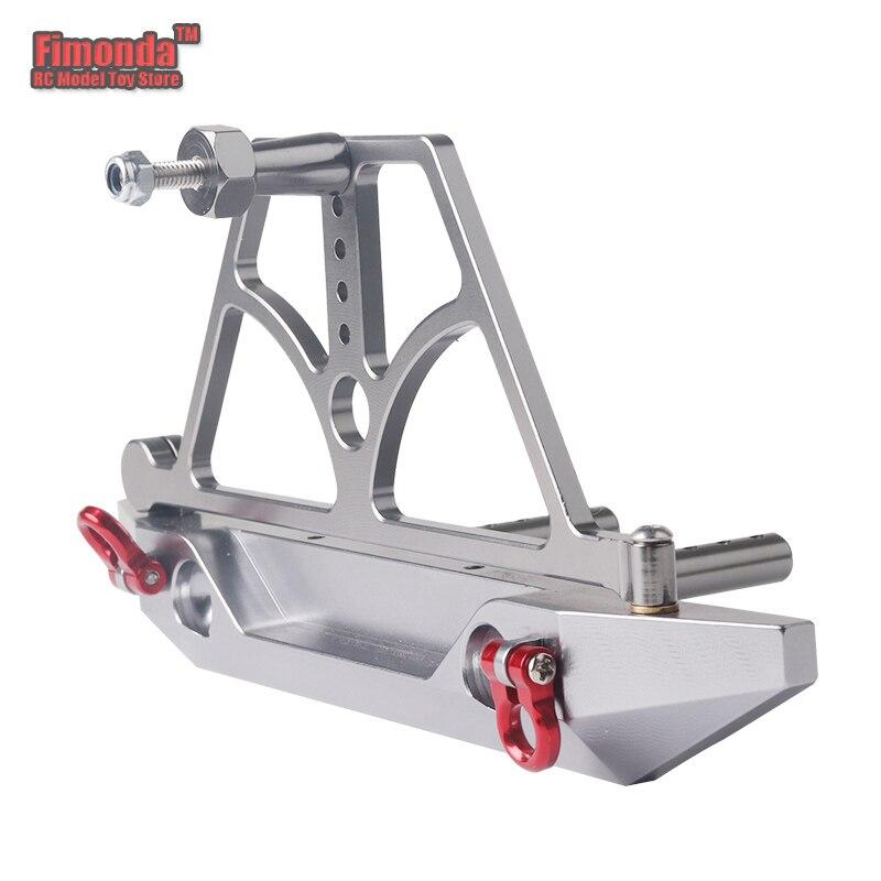 Fimonda for 1/10 RC Car SCX10 D90 Rear Bumper With Spare Tire Carrier Magnetic Suction Wheel Mount Rack Decor Axial farts стоимость