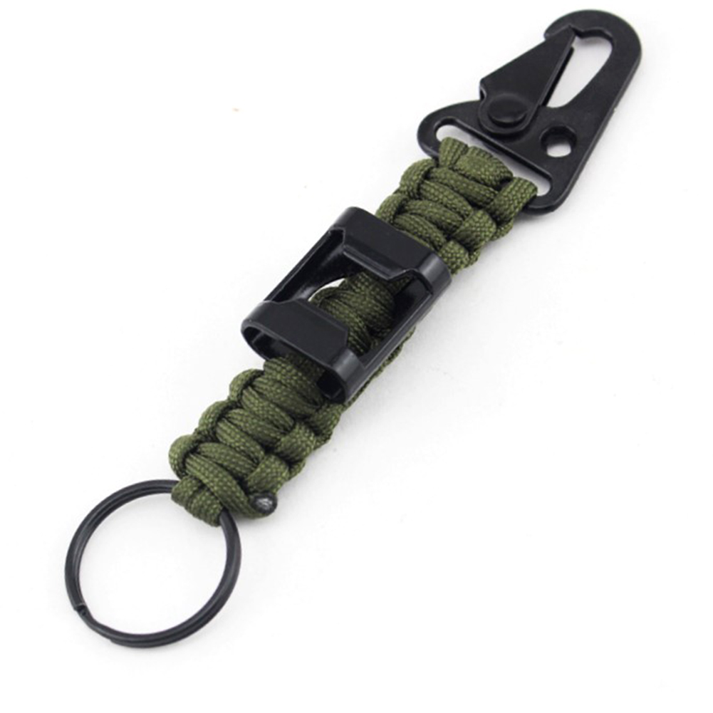 Outdoor EDC Keychain Gear Survival Camping Flint Fire Starter Magnesium Chips N
