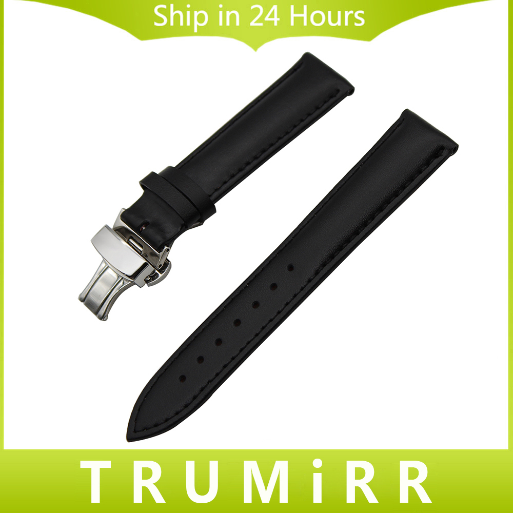 Calf Genuine Leather Watch Band 22mm 24mm for Panerai PAM Luminor Radiomir Butterfly Clasp Strap Wrist Belt Bracelet Black Brown carlywet 24mm hot sell newest camo waterproof silicone rubber replacement wrist watch band strap belt for panerai luminor