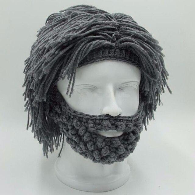 NaroFace ручной вязки Мужская зимняя вязаная шляпа с усами Beanies Face Tassel маска велосипедиста Лыжная теплая шапка забавная шапка подарок новинка