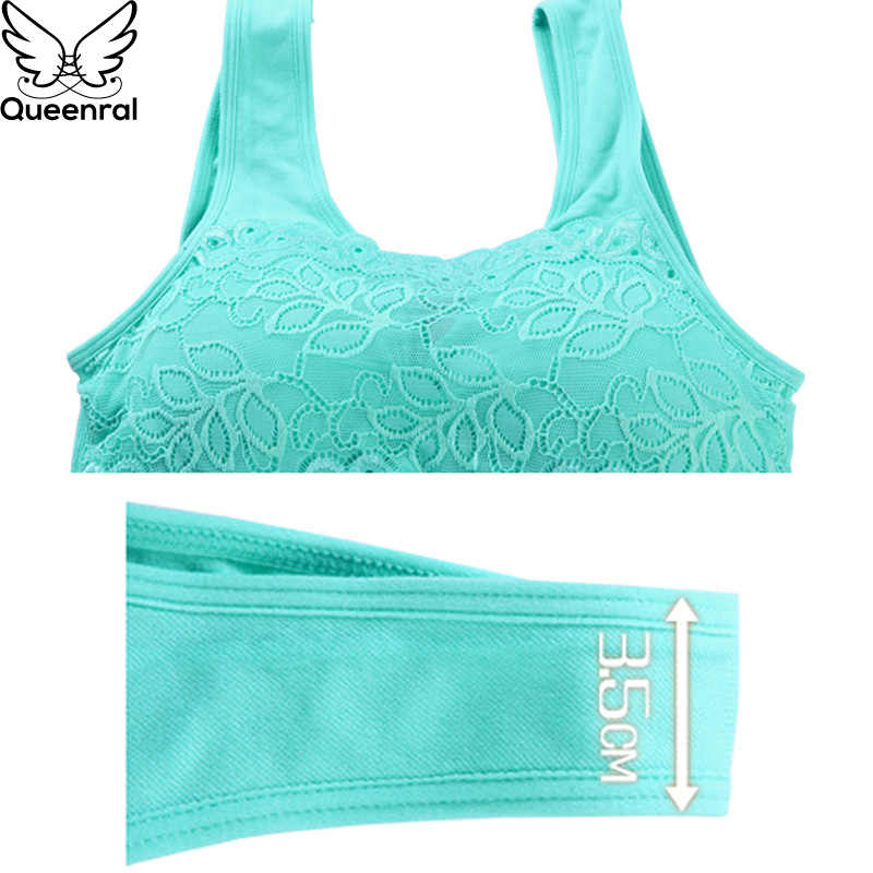 Queenral Dây Miễn Phí Áo Ngực Yếm Cho Phụ Nữ Đồ Lót Thoải Mái Bralette BH Lingerie Mềm Đồ Lady Áo Ngực Phụ Nữ Intimates 2018 New