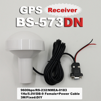 5V Industrial Computer DB9 Serial Port + DIY Power Cord RS-232 Mushroom Head GPS Module Receiver BS-573DN