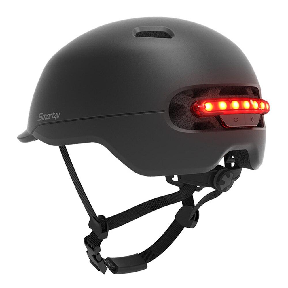 Impermeable de los hombres y las mujeres Xiaomi Smart4u SH50 ciclismo casco inteligente a luz LED largo uso casco luz trasera para bicicleta Scooter