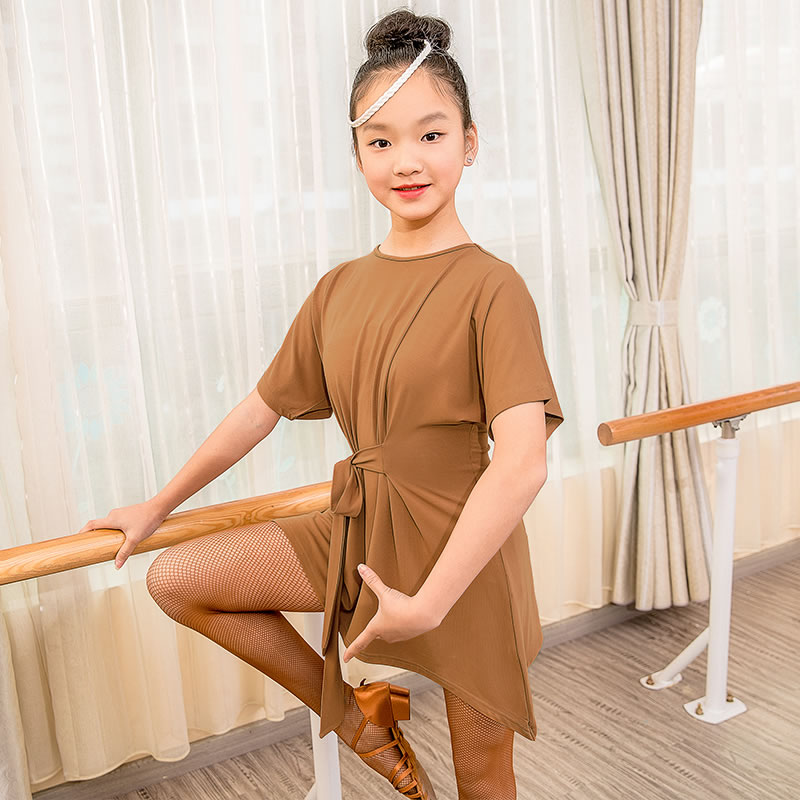 Fashion Solid Modal Loose Latin Dance clothes Top for little girl/children/kids ,Ballroom Tango Costume Performance Wears G1031