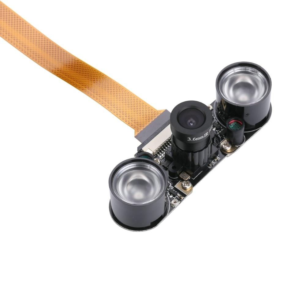 Модуль камеры Raspberry Pi Zero, регулируемая фокусная веб-камера ночного видения с светодиодный к-датчиком, светодиодная подсветка для RPI Zero, беспл...