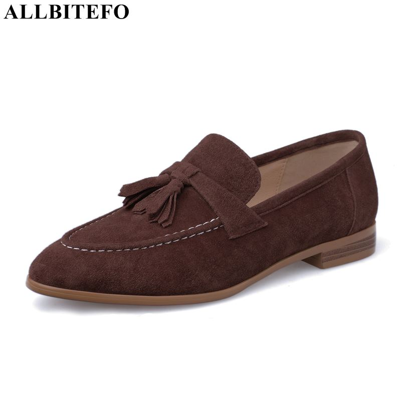 ALLBITEFO fashion tassel genuine leather low-heeled party women shoes high quality office ladies shoes comfortale women heelsALLBITEFO fashion tassel genuine leather low-heeled party women shoes high quality office ladies shoes comfortale women heels