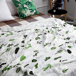 Image 5 - ขนาดใหญ่ 120*150/150*200 ซม.สี่ชั้นผ้าฝ้าย/ไม้ไผ่ muslin ผ้าห่มเด็ก swaddle wrap สำหรับทารกแรกเกิดผ้าห่ม
