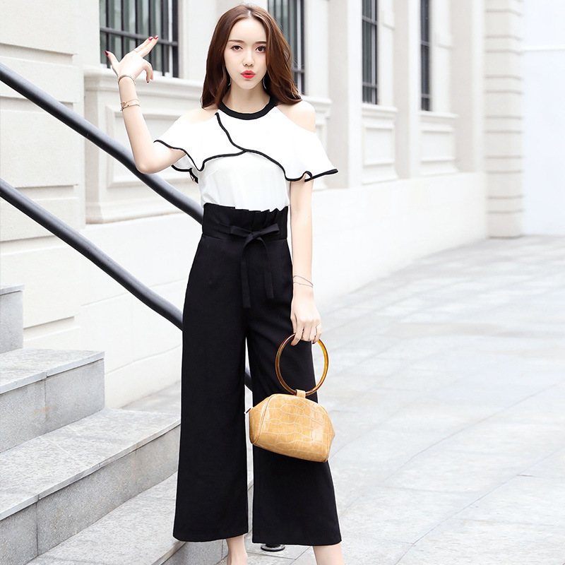 Summer Women Suits Sets 2018 Fashion Chiffon Women Shirt+Loose Pants office Work Party Casual 2 Piece Set Women Plus Size ...