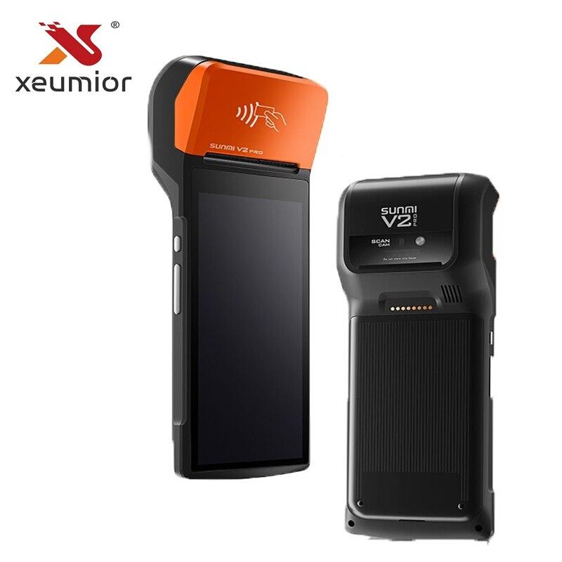 Sunmi 4G Sistema POS Handheld com Impressora Térmica Móvel Sem Fio Bluetooth Wi-fi Android PDA Distribuição V2 pro