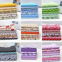 7pcs DIY Assorted Pattern Floral Printed Patchwork Cotton Fabric Cloth Crafts Bundle Sewing Quilting 25x25cm 100pcs 10x10cm square floral cotton fabric diy sewing doll quilting patchwork textile cloth bags crafts