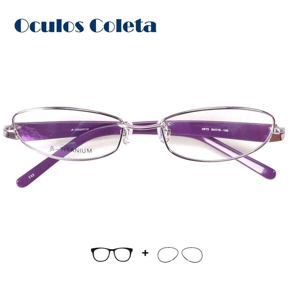 Italy designer titanium prescription glasses for women aspheric lenses