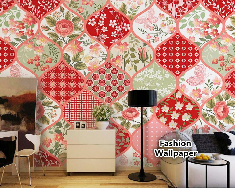 Cool Wallpaper Marble Collage - beibehang-Senior-decorative-painting-aesthetic-wallpaper-Plaid-red-small-floral-style-collage-background-3d-wallpaper-tapety  Perfect Image Reference_47613.jpg
