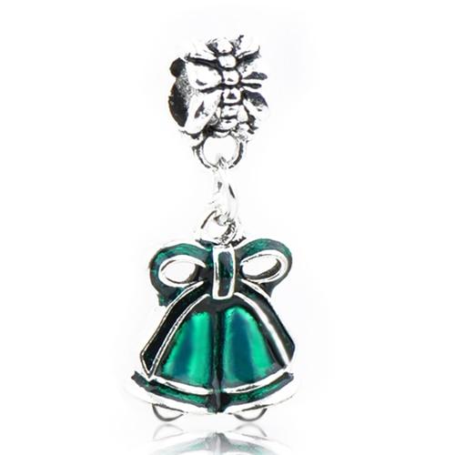Макси маленькое Рождественское дерево костыль колокольчик Санта Клаус подвески-шармы Pandora Браслеты и браслеты для женщин DIY для украшения подарка - Цвет: Style 13