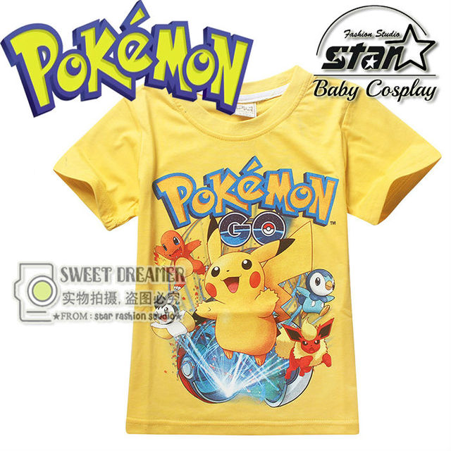 5a6b95abafb11 New Cartoon Pokemon Go T Shirts Boys Pikachu T-Shirts Kids Fashion Short  Sleeve Anime Children Clothing Funny 3D Shirts Tops