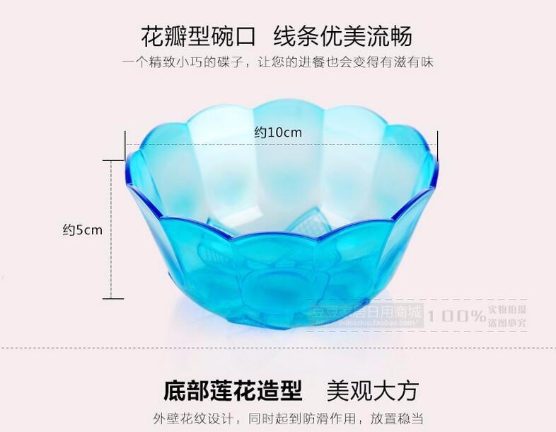 Estilo japão Saladeira de Plástico Colorido Transparente