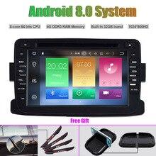 Восьмиядерный Android 8.0 dvd-плеер автомобиля для Renault Duster Авто Радио Стерео GPS навигации