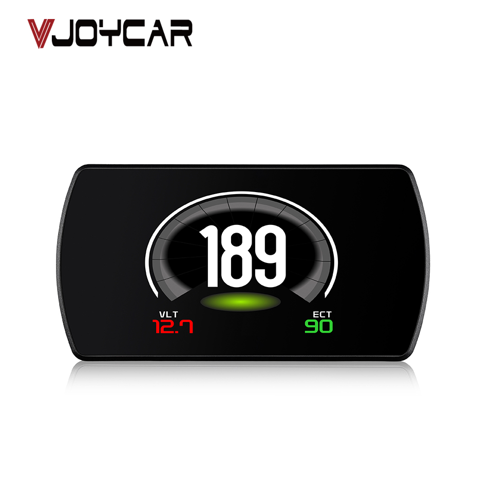 VJOYCAR P12 TFT Voiture Hud OBD Head Up Display Numérique Vitesse Projecteur OBD2 Pare-Brise Projection Compteur De Vitesse GPS Navigation Alarme