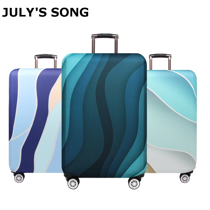 JULY'S SONG Suitcase Case 18-32Inch Elastic Luggage Protective Covers Dust-proof Suitcase Protective Covers Travel Accessories(China)