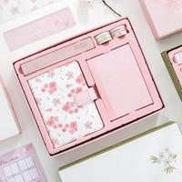 TUTU A5 Sakura Handbook Set Cute Kawaii Notebooks Notepad Schedule Planner Journal Personal Diary 2018 Libros y Cuadernos H0143