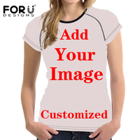 FORUDESIGNS Welcome Custom T Shirt For Women High Light 3D Funny Printing On Women T Shirt