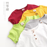 Summer Children Clothing 2018 2 8y new Cotton Short sleeved Baby Girl Clothes Solid Color T shirt Girls Tops Kids Tees 10 Color