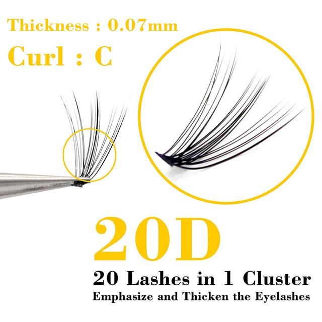 Kimcci Super Bundles 3D Mink Individual Eyelash Extension False 20D Russian Volume Cluster Lashes Natural Faux Makeup Eyelashes 1