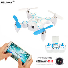 HELIWAY Mini RC Drone Pocket Quadcopter Micro Pocket 4CH 6Axis Gyro Switchable Controller Helicopter Wifi FPV Foldable Toys