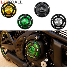LJBKOALL Motorcycle Aluminium Right Side Engine Protective Protect Cover For Kawasaki Vulcan S VN650 2015 2016 2017 2018 2019 for kawasaki z800 2013 14 vn650 vulcan s 2015 2016 motorcycle m20 2 5 oil cap reservoir cup caps engine oil filter cover cap