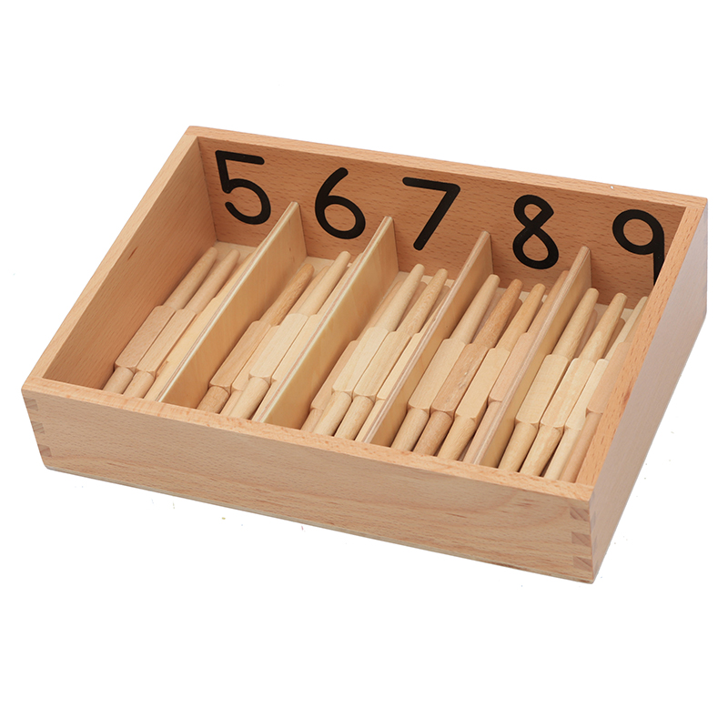 Montessori enfants bébé jouet Version professionnelle broche boîte avec 45 broches préscolaire Brinquedos Juguets - 3