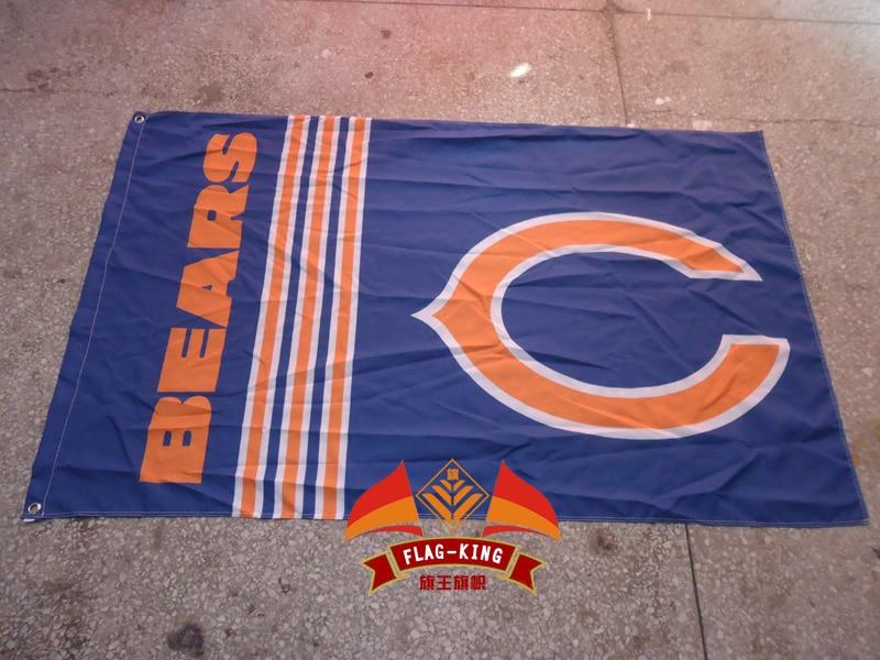 Chicago Bears Футбол флаг клубный дом, NFL флаг, Chicago Bears Футбол клубный дом баннер, 90*150 см полиэстер баннер