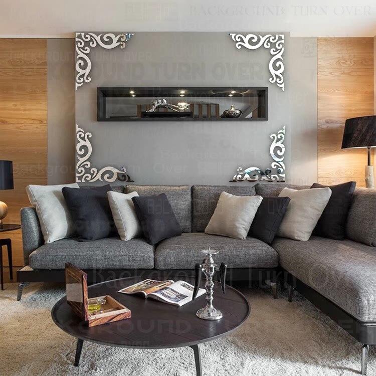 Home Spa Design: New Design Vintage Diagonal Frame Pattern TV Backdrop