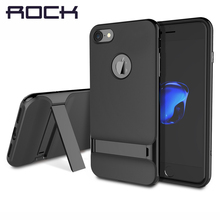 Оригинальный чехол ROCK для iPhone 7 Новый Royce PC ТПУ ультратонких надежная защита от повреждений подставку держатель телефона стенд для iPhone 7 Plus задняя крышка