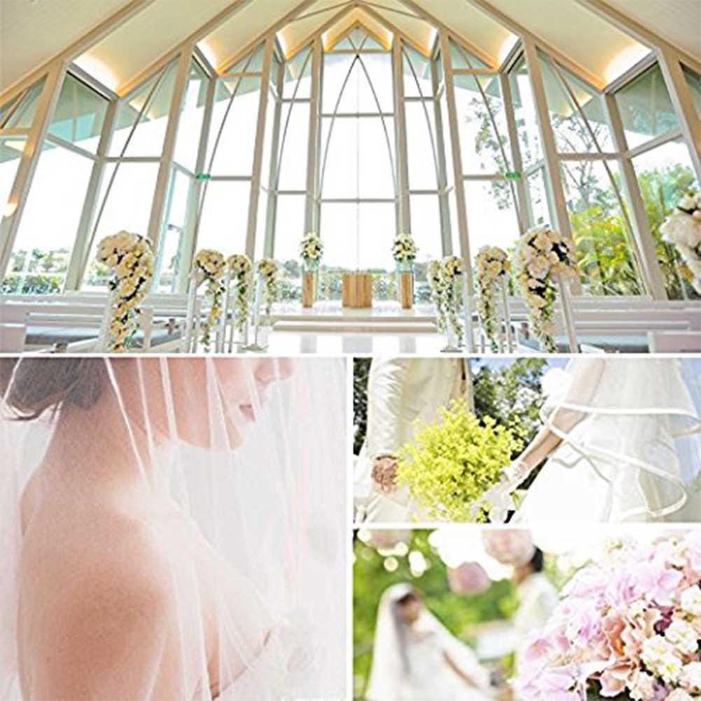 Auf Lager Günstige Velos De Noiva Frauen Perle Perlen Braut Schleier Hochzeit Kleid Schleier 4 Schichten Tüll Rand Hochzeit Zubehör