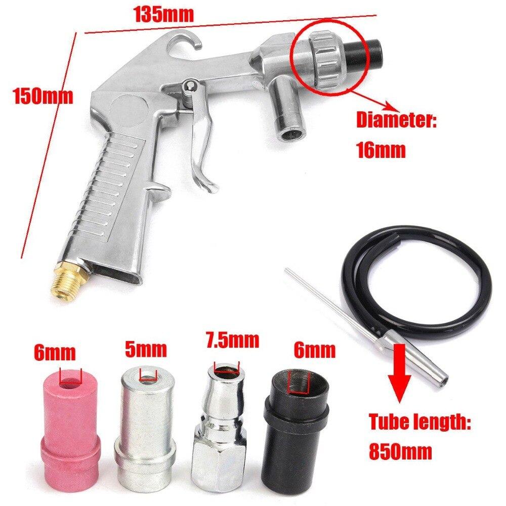 Image 5 - Air Sandblaster Sandblasting Blast Gun+Nozzles+Connector+Tube Derusting Tool Kit Industrial Sandblaster Gun-in Spray Guns from Tools on