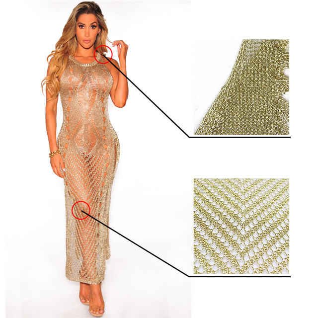 Have Gold and silver metallic sexy outfits for women can not