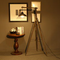 European retro wooden three foot frame floor lamps standing staande lamp led floor lamps for living room Vloer lamp