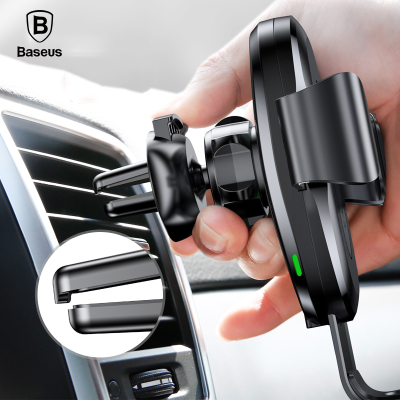 Baseus 10W Qi Car Wireless Charger For iPhone XS Max Quick Charge Fast Wireless Charging Car Holder Stand For Samsung S8 2