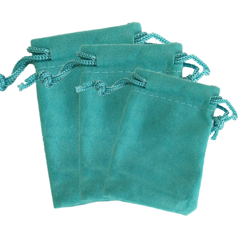 50pcs/lot Lake Blue Velvet Bag 5x7cm Mini Charms Jewelry Packaging Bags Wedding Decoration Velvet Drawstring Pouch Gift Bag