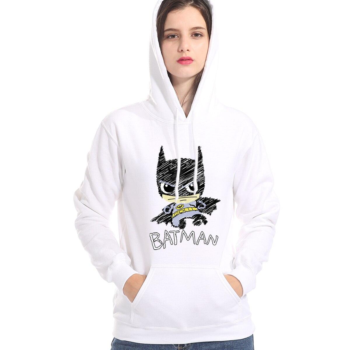 Funny BATMAN Cartoon Print Hoody Autumn Winter 2019 Brand Clothes Female Sweatshirt Harajuku Women's Sportswear Kpop Hoodies